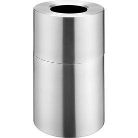 Global™ Aluminum Trash Container - Satin Clear 35 Gallon Capacity