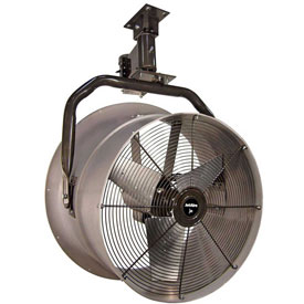 "Triangle Engineering 30"" Oscillating Vertical Mount Fan With Poly Housing 245573 1 HP 10600 CFM"