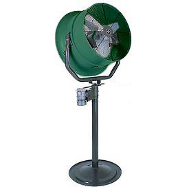 "Triangle Engineering 30"" Oscillating Pedestal Fan With Poly Housing 245574 1 HP 10600 CFM"
