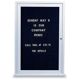 "United Visual Products One-Door Indoor Letter Board - 24""W x 36""H"