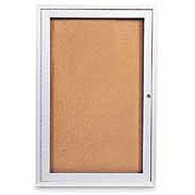 "United Visual Products One-Door Indoor Corkboard - 36""W x 36"""