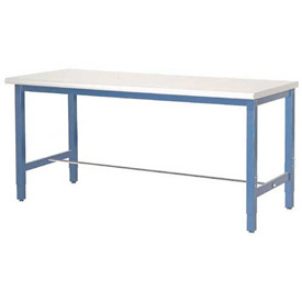 "60""W x 24""D Packaging Workbench - Plastic Laminate Square Edge  - Blue"