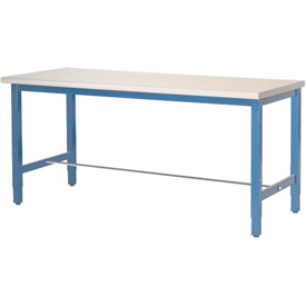 "72""W x 24""D Packaging Workbench - Plastic Laminate Square Edge  - Blue"