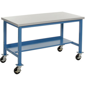 60 x 24 Mobile Plastic Square Edge Lab Bench