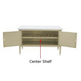 "72"" Cabinet Center Shelf-Tan"