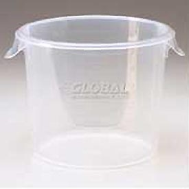 """Rubbermaid Commercial FG572624CLR - Container Semi-Clear, Round, 3 Gal. 13-1/8"""" Dia. x 8-1/8""""H - Pkg Qty 6"""