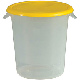 "Rubbermaid Commercial FG572200Yel - Lid For 8-1/2"" Diameter Containers, Yellow, Polypropylene - Pkg Qty 12"