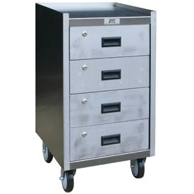 Jamco Stainless Steel Mobile Work Stand YF118 with 4 Drawers