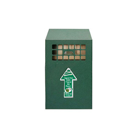 Wall Mount Bin Outdoor Ashtray Antique Green - NBB03