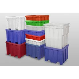 MODRoto Bulk Container With Lid P291 - 44x44x32-1/2, Royal Blue
