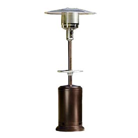 Hiland Patio Heater HLDS01-CGT Propane 41000 BTU With Steel Table Gold