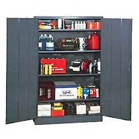 EDSAL Economical Storage Cabinet: Unassembled - 48x18x78 - Gray