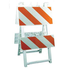 "Econocade Folding Traffic Barricade 42-3/5""H With 4 Panels 4 Sheetings"