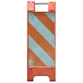 "Minicade Barricade Sign Stand 36""H With 2 Panel 2 Sheetings"