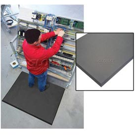 "Superfoam Antifatigue Mat 3' Wide Full 75 Ft Roll 5/8"" Thick Black"