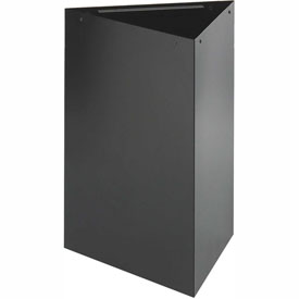 Triangular Recycling Receptacle - 15 Gallon Black