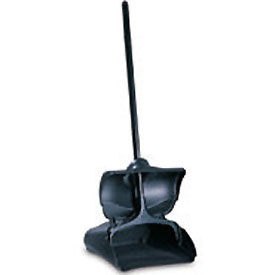 "Rubbermaid® 12-1/2"" Lobby Pro Upright Plastic Dustpan W/ Cover, Black - RCP253200BLA - Pkg Qty 6"