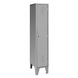 Pucel Extra Wide Welded Steel Lockers Single Tier 18x18x72 Gray
