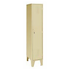 Pucel Extra Wide Welded Steel Lockers Single Tier 18x18x72 Putty