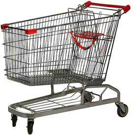Good L Corp.® 40W Steel Shopping Cart 11 Cu. Ft. Capacity