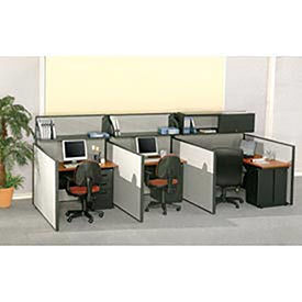 "Interion™ Pre-Configured Call Center Add-On, 48""W x 48""D, Gray"