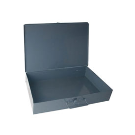 Durham Steel Scoop Compartment Box 123-95 - No Dividable Compartments - Pkg Qty 4