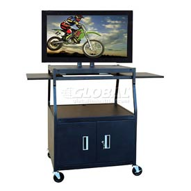 Buhl Wide Body Flat Screen Monitor Cart with Cabinet