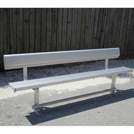 8' Aluminum Park Bench With Back, Portable and/or Surface Mount