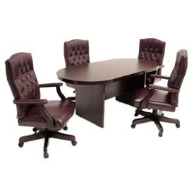 Conference Table Racetrack 95 x 43 Mahogany
