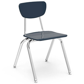Virco® 3018 Martest 21® Hard Plastic Chair - Navy - Pkg Qty 4