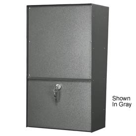Jayco LLSSVRW Wall Mount Vertical Rear Access Stainless Letter Locker Mailbox