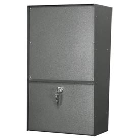 Jayco LLVRW Wall Mount Vertical Rear Access Letter Locker Mailbox Gray