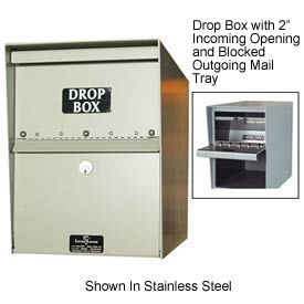 "Jayco LL1STD-DRP Standard Drop Box Locker 1"" Incoming Slot and Envelope Slot Black"