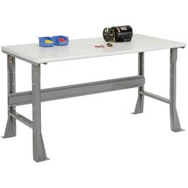 "72""W X 30""D X 34""H ESD Safety Edge Workbench - Gray"
