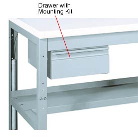 Drawer with mounting kit