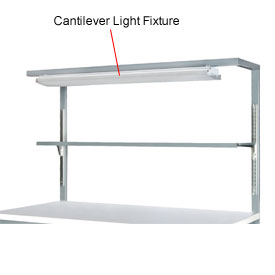 Cantilever Light Fixture with Shelf-60""