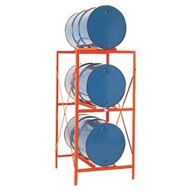 Modern Equipment MECO DR3 Drum Storage Rack - 3 Drum Storage