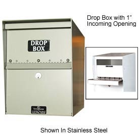 "Jayco LL6MAXSTD-DRP2 Heavy Duty Drop Box Locker 2"" Incoming Slot No Envelope Slot Bronze"
