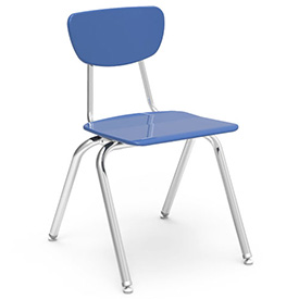 Virco® 3018 Martest 21® Hard Plastic Chair - Light Blue - Pkg Qty 4