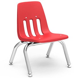 Virco® 9010 Classic Series™ Classroom Chair - Red Vented Back - Pkg Qty 4
