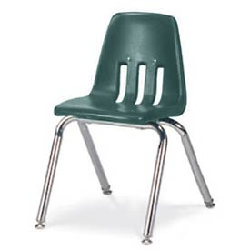 Virco® 9014 Classic Series™ Classroom Chair Forest Green Vented Back - Pkg Qty 4