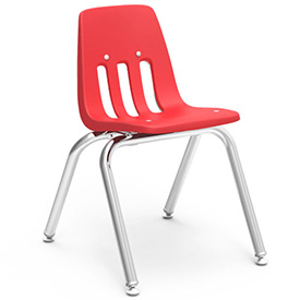 Virco® 9014 Classic Series™ Classroom Chair - Red Vented Back - Pkg Qty 4