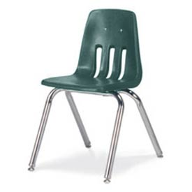 Virco® 9016 Classic Series™ Classroom Chair Forest Green Vented Back - Pkg Qty 4