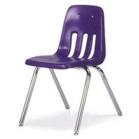 Virco® 9018 Classic Series™ Classroom Chair - Purple Vented Back - Pkg Qty 4