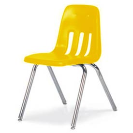 Virco® 9018 Classic Series™ Classroom Chair - Yellow Vented Back - Pkg Qty 4