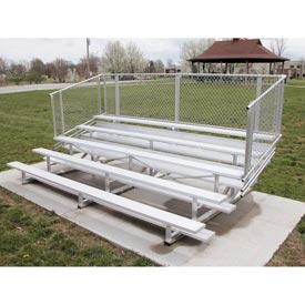 Aluminum Bleachers with Guardrails 5 row 15' W