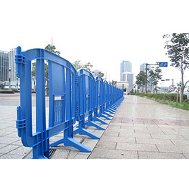 MINIT™ Plastic Barricade, Interlocking, Blue