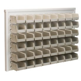 Akro-Mils Ready Space Wall Panel 30536210S With 48 Beige AkroBins 30210