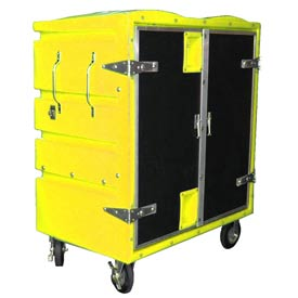 Myton RTC-4829H6 34 Cu. Ft. Yellow Plastic Security Transfer Truck 950 Lb. Cap.