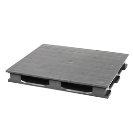 Rackable Plastic Pallet With 6 Bottom Skids 48x40, 3500 Lbs Cap - Pkg Qty 4